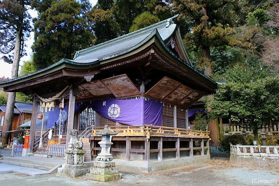 Oguni-machi, Japan: 小国両神社拝殿