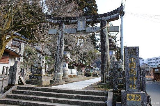 Oguniryo Shrine: 鳥居と横参道