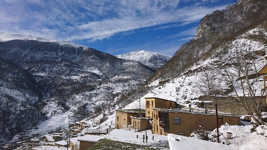 Masuleh, Iran: After 2 days of camping upon the mount we came back after snow fall to the village
