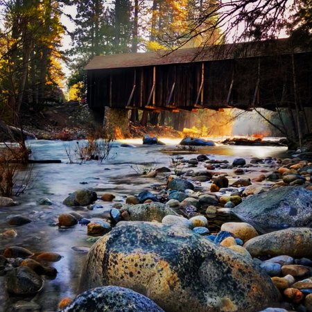 Old Covered Bridge Wawona April 2018