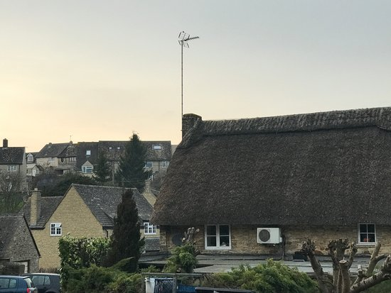 The Plough Inn: View of the pub and village from the car park