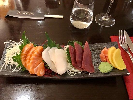 KOBE Steak Grill Sushi Restaurant Václavské nám.: Sashimi starter