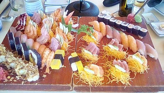 Furusato Japanese Restaurant: Sushi and sashimi platters