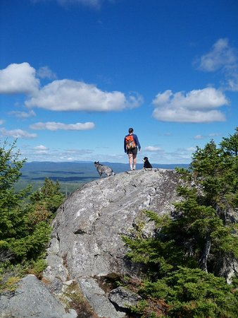 West Forks, ME: Mosquito Mountain, a short distance from the lodge !
