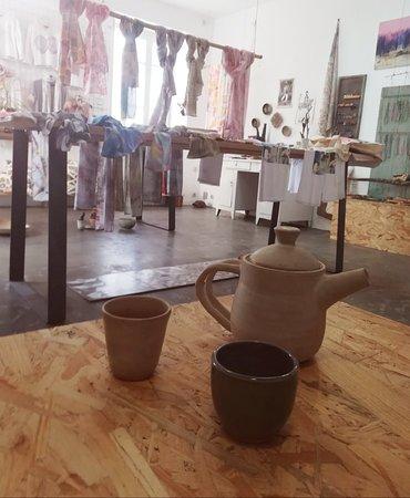 Gallery X Art Studio: Hand thrown pottery.