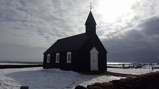 Budir, Islande : buddirkirkja in the snow