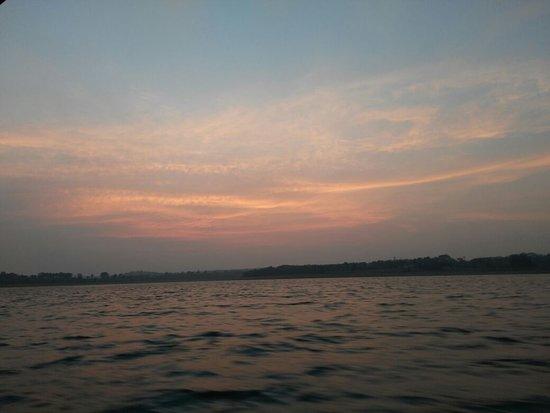 kabini river sun set view