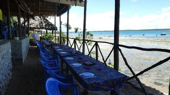 Shimoni, Kenia: Wasini - Restaurant.