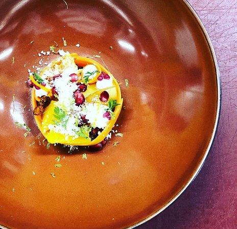 Wortel, granaatappel en mango