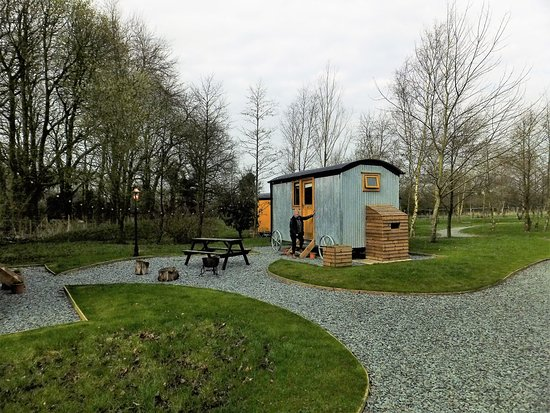 One of the lovely Shepherd's Huts at Samlesbury Hall