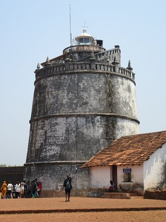 Sinquerim, India: The central tower, once a lighthouse is impressive to look at but sadly not open to the public.
