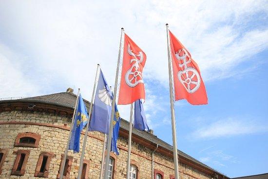 Mainz-Kastel, Almanya: Impressionen von der Reduit am Kasteler Museumsufer.