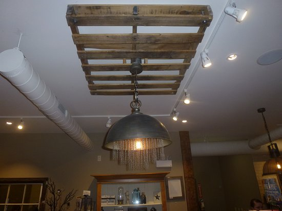 Unique Ceiling Light Medallions Used Pallets Picture Of Anna Mae S Bakery And Restaurant Millbank Tripadvisor