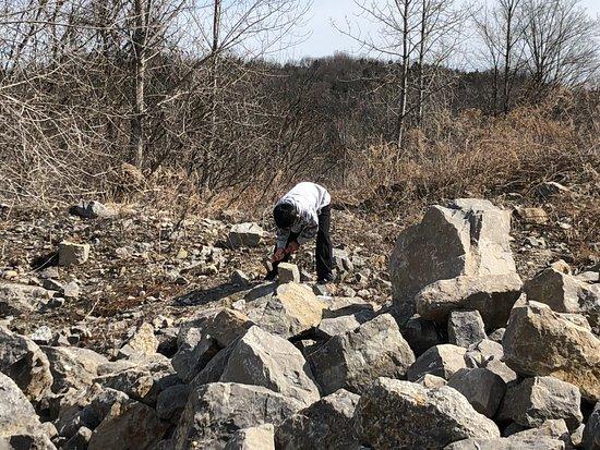 Herkimer, NY: breaking rocks