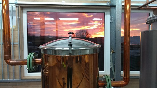 Dunnet, UK: Sunrise making gin!