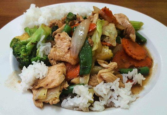 Greenacres, Φλόριντα: Chicken and veggies