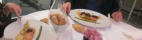 Ma Maison : saumon ecrasé pommes de terre chou rouge