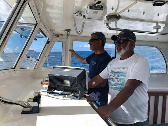 Me and the Captain in the helm area of Juggerknot