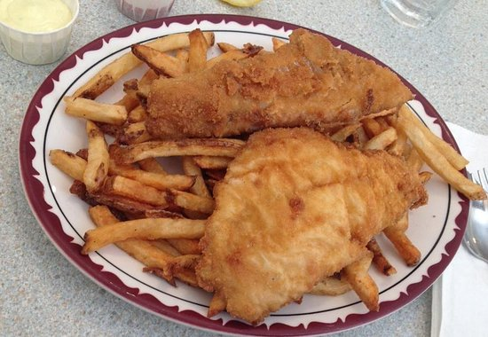 Lawrencetown, Canadá: battered haddock & fresh cut fries