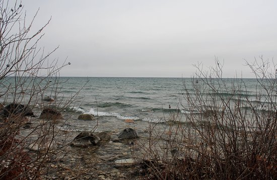 Northport, Мичиган: The waters of Lake Michigan.
