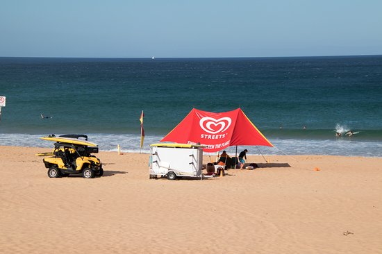 Whale Beach, Australia: life guards on duty