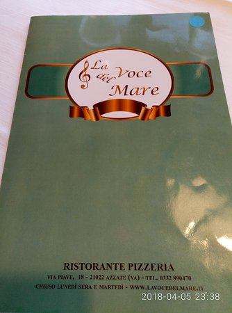 Azzate, Italie : Menu with their name