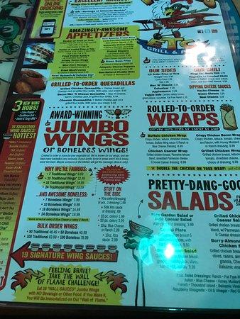 Wings Ect: menu shot