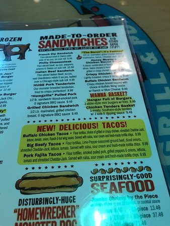 Greenfield, IN: menu, more choices