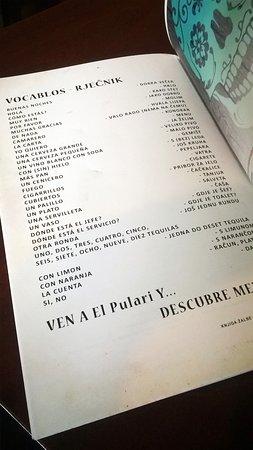 El Pulari Parasol: Vocabulary