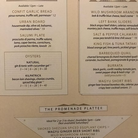 And the dinner menu.....