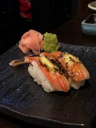 Milford, New Zealand: Snow Crab Sushi