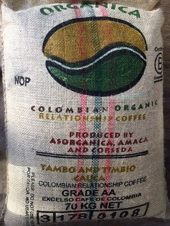 Constantia, Sydafrika: Bag of Green Coffee From Cauca - Colombia
