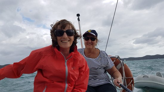 Opua, Nieuw-Zeeland: Couple of lovely women on our WOW (Women on Water) weekend.