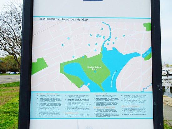 Mamaroneck, NY: 公園マップの看板