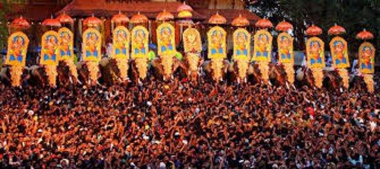 Vadakkunnathan Temple: Pooram at Trissur