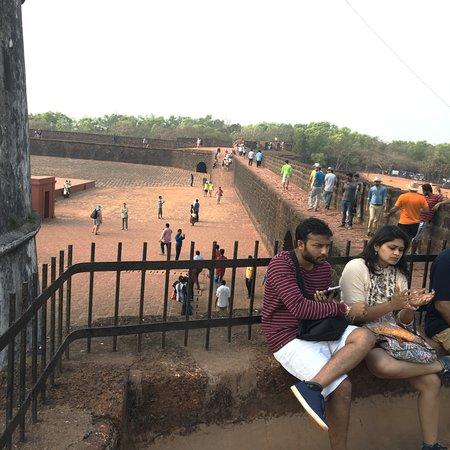 Sinquerim, India: top of the fort