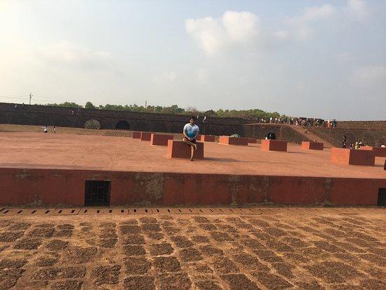 Sinquerim, India: sorroundigs of fort