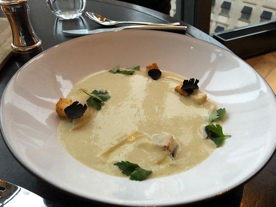 Artichoke soup - Picture of NoMI Kitchen, Chicago - TripAdvisor