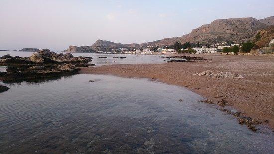 Stegna Beach: empty beach