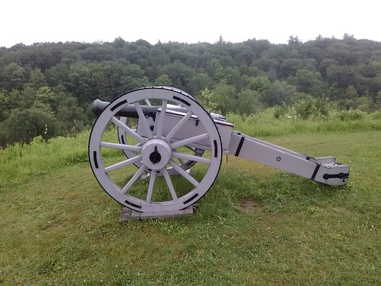 Stillwater, NY: cannon overlooking the Hudson River.