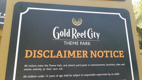 Gold Reef City: Panneau d'entrée
