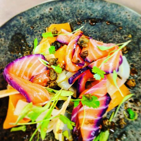 The Forest Bar & Restaurant: Beetroot cured salmon