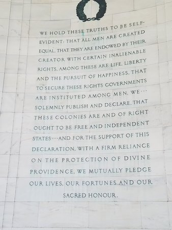declaration of independence ワシントン dc ジェファーソン記念館の