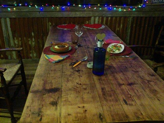 Saint Ewe, UK: Honeymoon dinner in the Party Shed