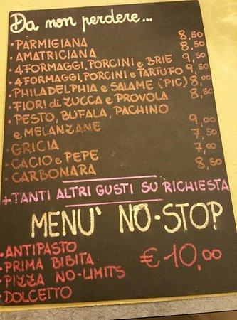 Lavagnetta Menu Picture Of Ippo Pizza Rome TripAdvisor