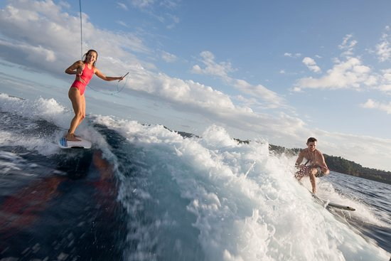 Islas Secas, Panama: The waters surrounding the islands are our playground for waveboarding and other activities.