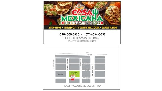 Columbus, New Mexiko: Free Shuttle available to this great little family restaurant in Palomas.