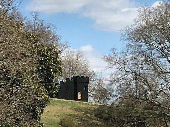 Castle Folly on the hill at Winterthur