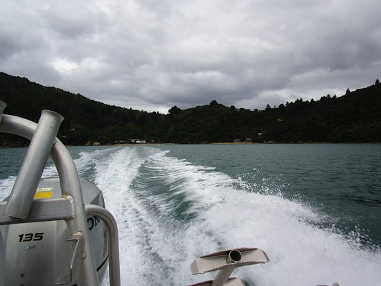 Marlborough Region, New Zealand: The boat trip to Raetihi Lodge