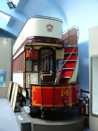 Manx Museum : Douglas Horse Tramway car, retired from service.